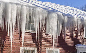 ICE DAMAGING ROOF AND GUTTERS